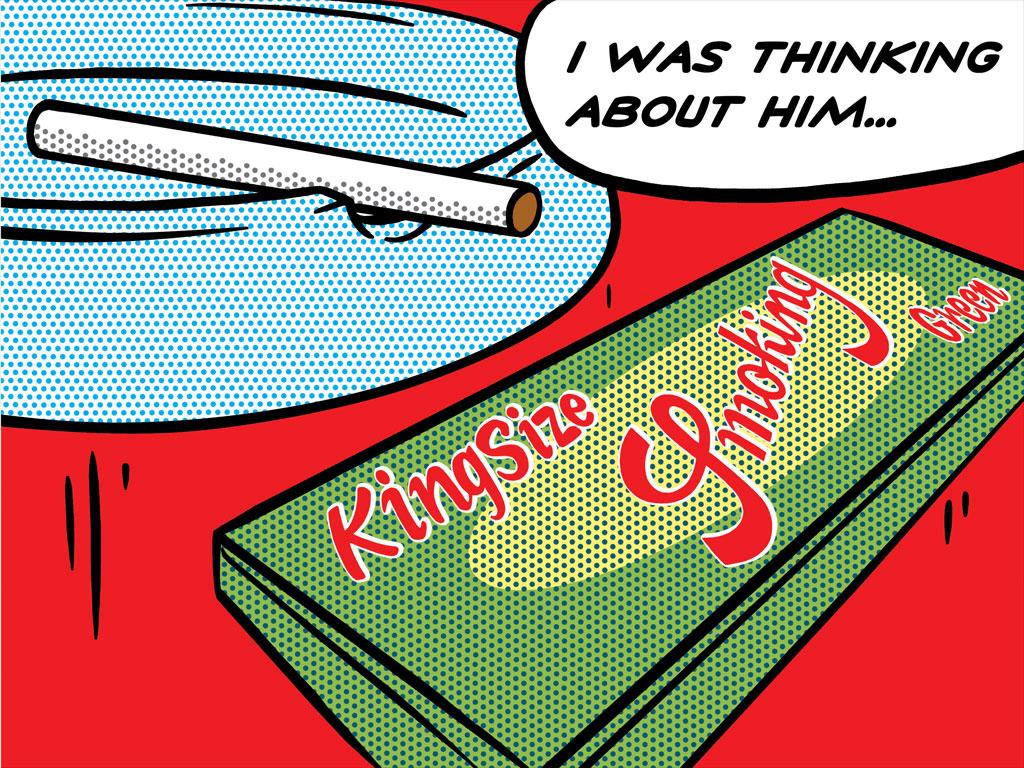 Smoking-King-Size-Green-lichtenstein